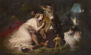 """Scene from a Midsummer Night's Dream"" by Edward Landseer"