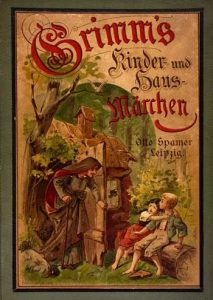cover of vintage children's and household tales Grimm's fairy tales